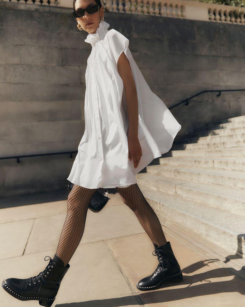 MM6 Maison Margiela Oversized Gathered Cotton-Poplin Dress