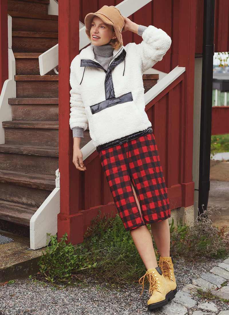 MSGM Checked Midi Skirt