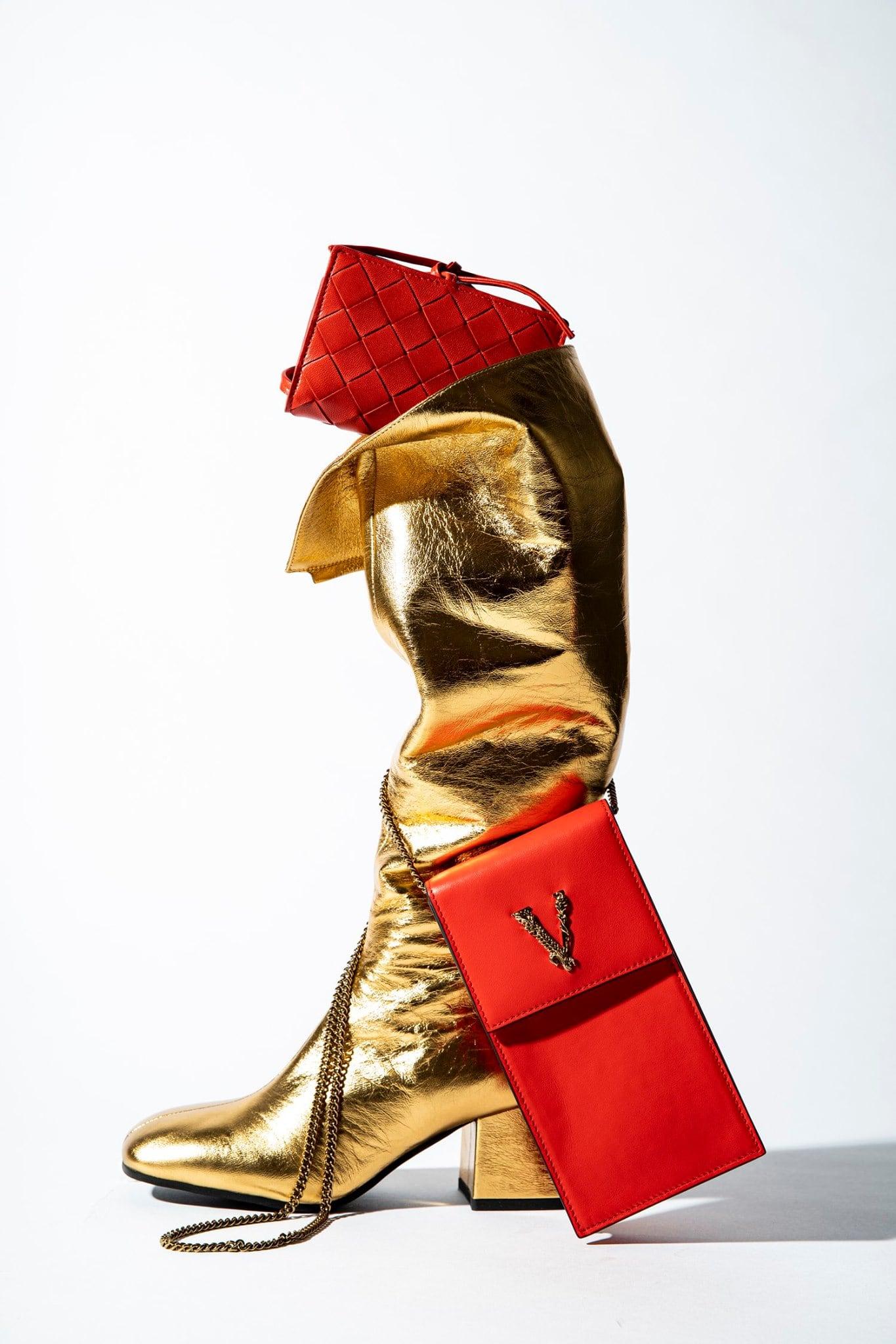 Marni 60mm Metallic Leather Tall Boots