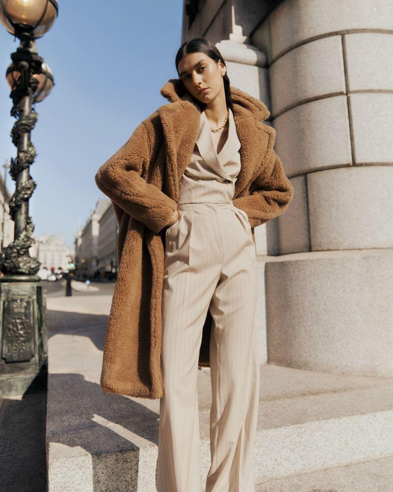 Max Mara Teddy Bear Icon Camel Hair and Silk-Blend Coat