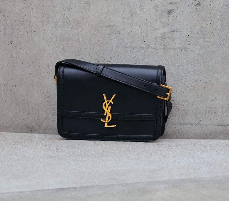 Saint Laurent Cass Medium YSL Lock Shoulder Bag
