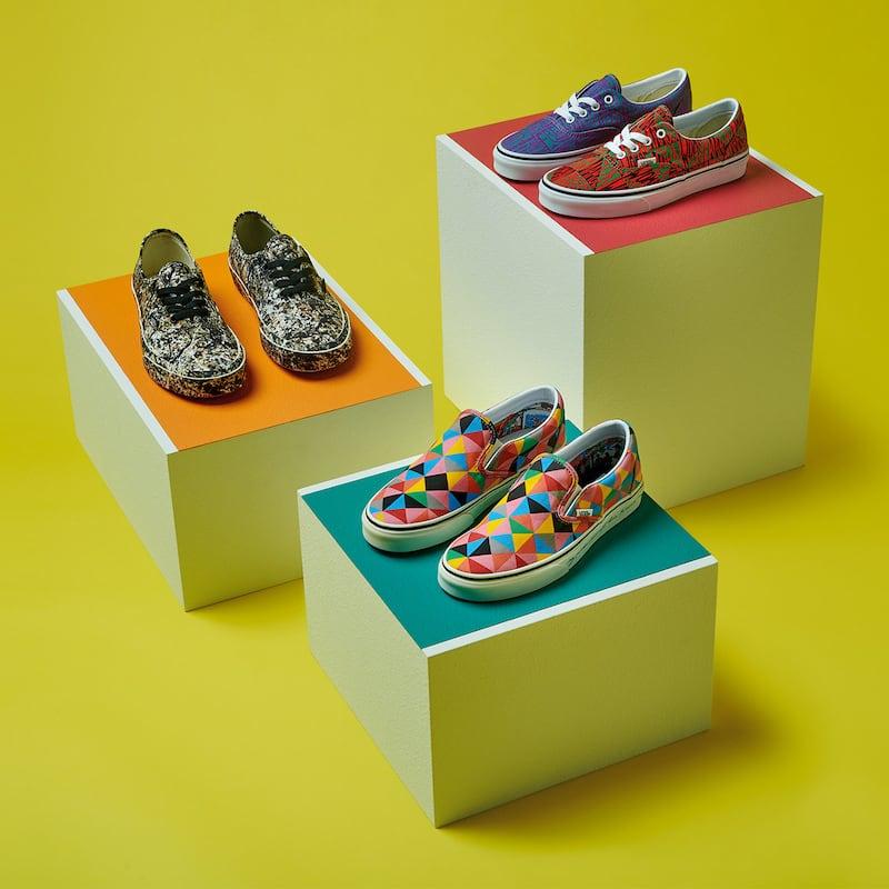 Vans x MoMA Era Faithring Gold Sneakers