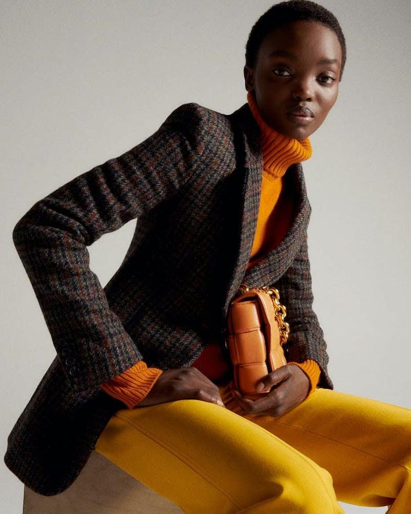 Victoria Beckham Checked Wool Blazer