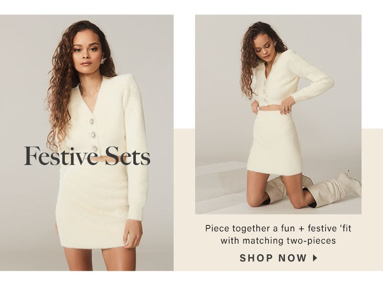 Festive Sets: Piece together a fun + festive 'fit with matching two-pieces - Shop Now