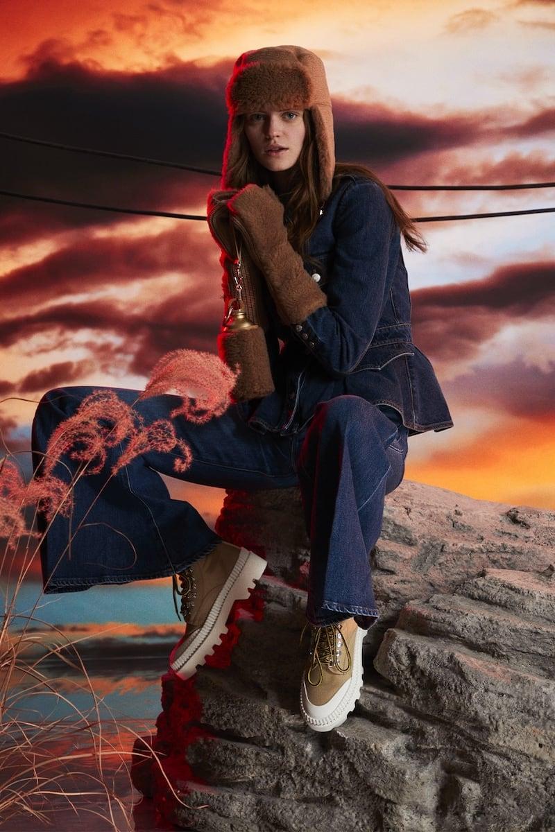 Alexander McQueen Cotton Denim Jacket W/ Peplum