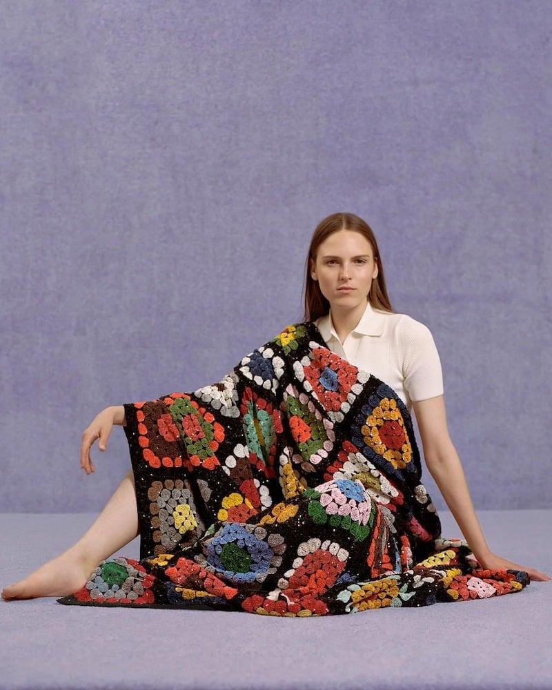 Ashish Sequinned Crochet Blanket
