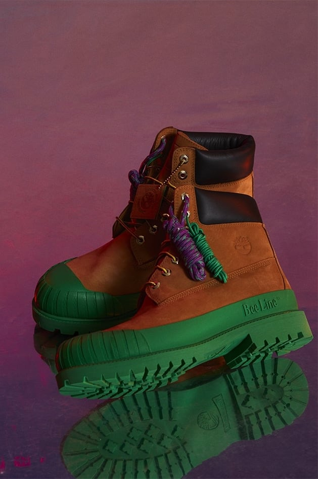 Bee Line x Timberland Leather Boots W/ Rubber Toe