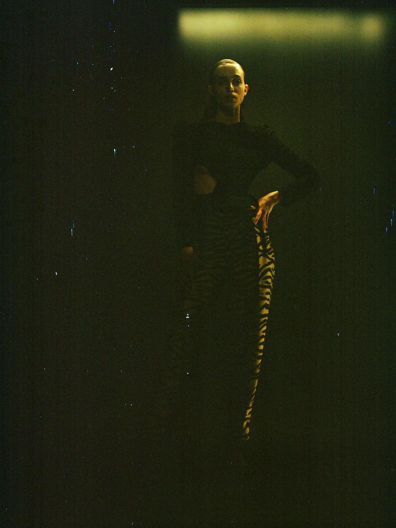 Khaite Magdeline Pleated Metallic Zebra-Jacquard Straight-Leg Pants 1