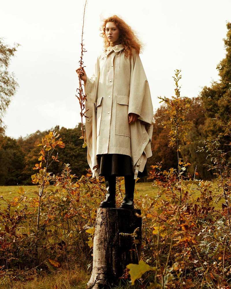 Lemaire Hooded Cotton-Canvas Cape Coat