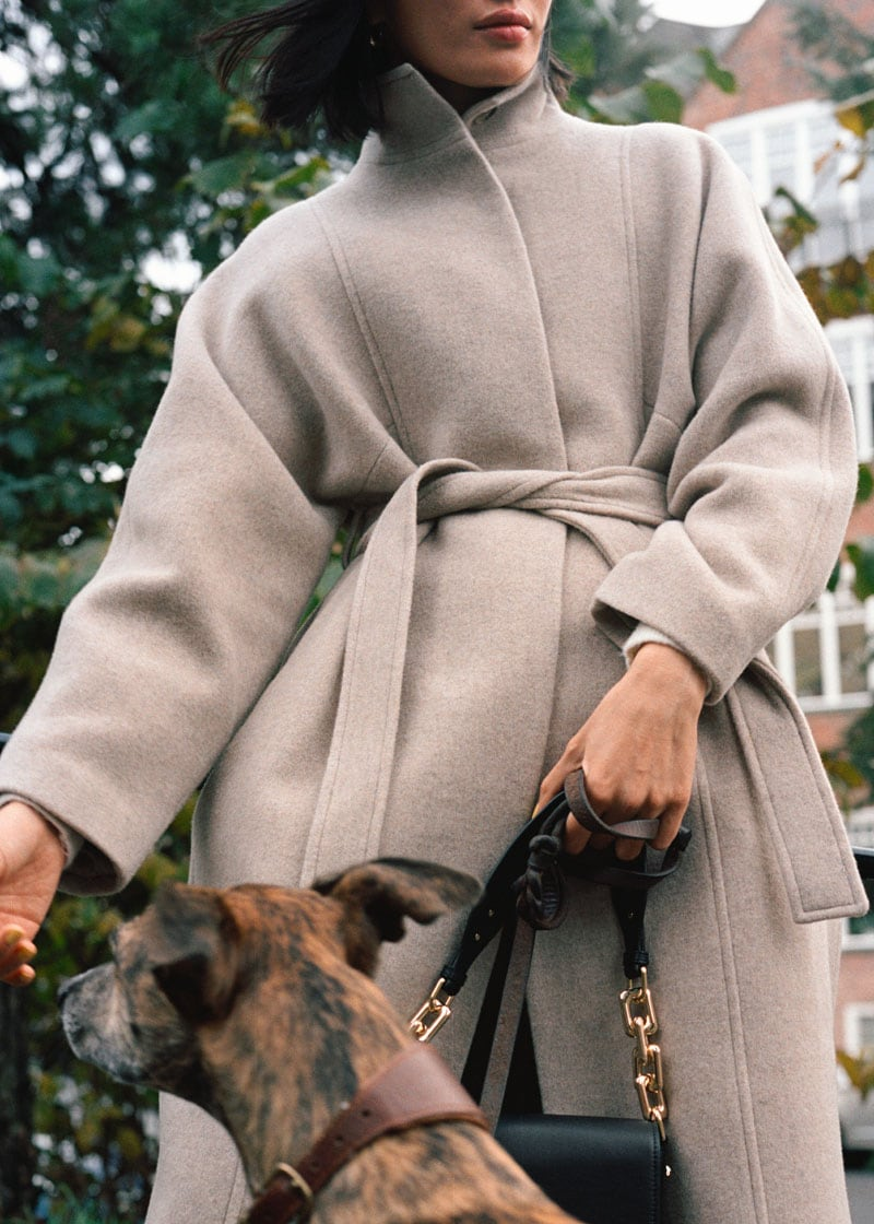 & Other Stories Belted Recycled Wool Coat
