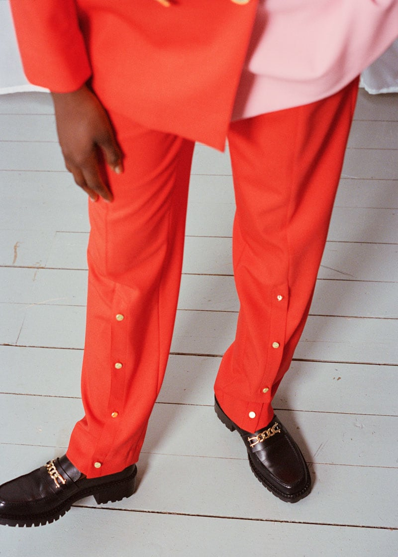 & Other Stories Fitted Buttoned Slit Press Crease Trousers