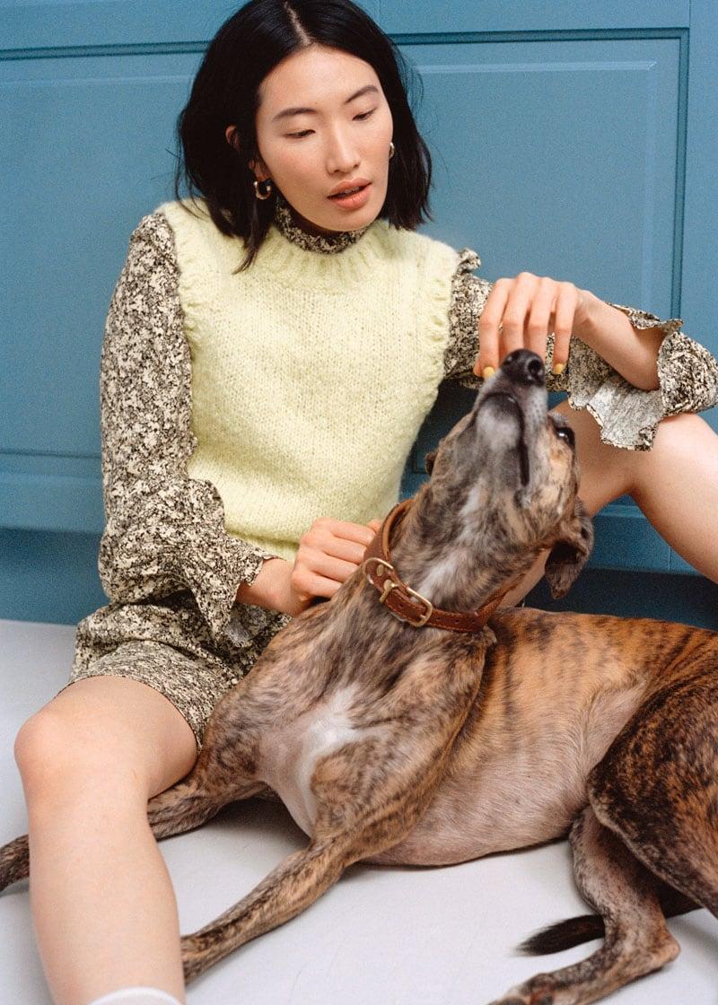 & Other Stories Fuzzy Scallop Knit Vest