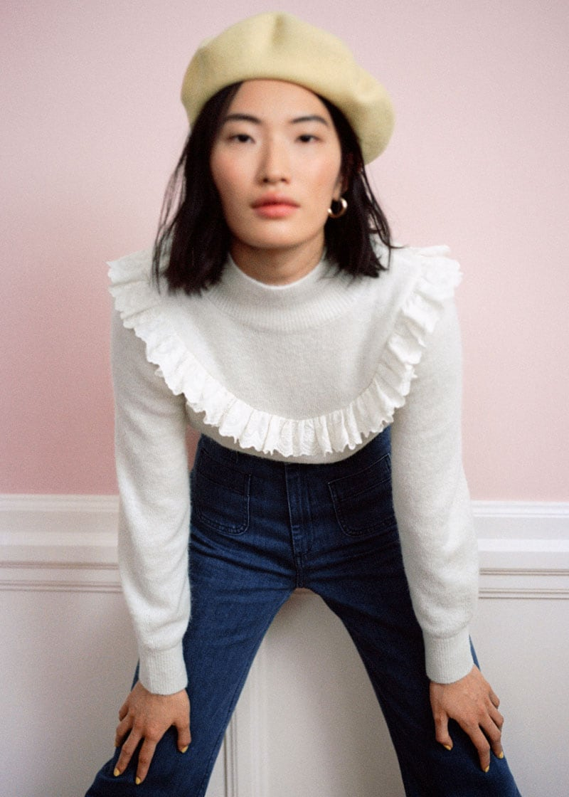 & Other Stories Ruffled Turtleneck Knit Sweater