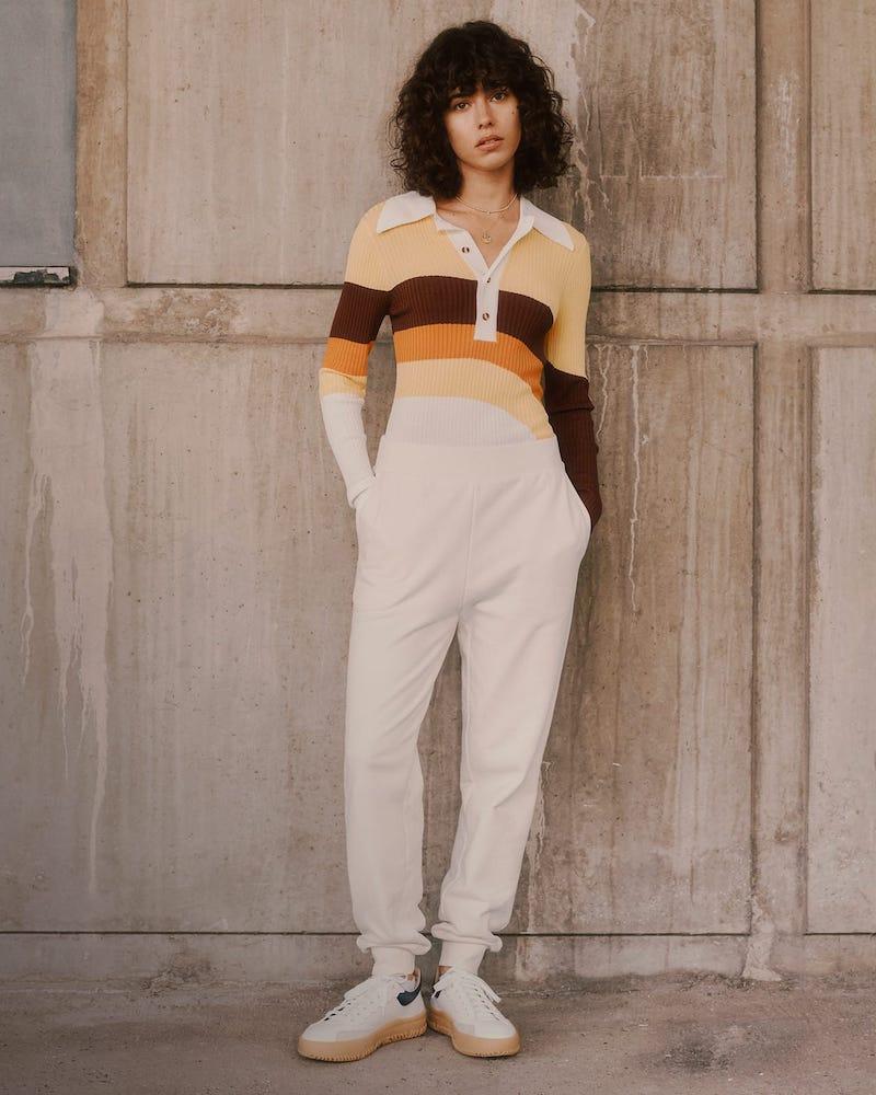Dodo Bar Or Hera Striped Ribbed-Knit Bodysuit