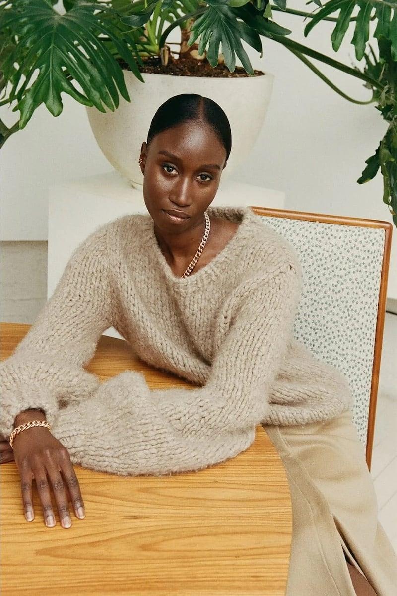 Gabriela Hearst Clarissa Lantern-Sleeve Cashmere Sweater