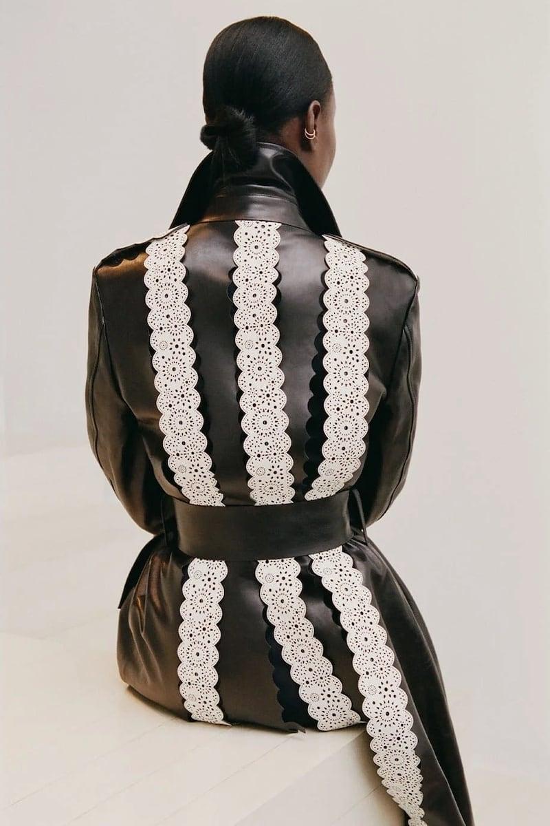 Gabriela Hearst Kari Leather-Appliqué Silk-Blend Shirt Dress