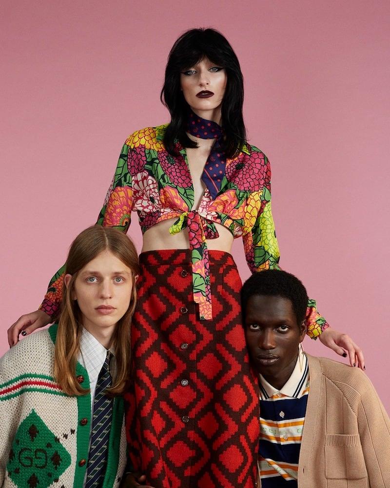 Gucci x Ken Scott Floral Silk Crop Top