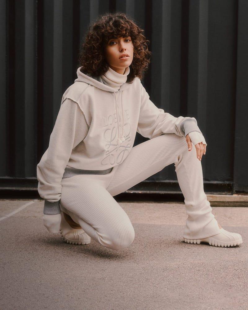Loewe Anagram-Embroidered Cotton-Jersey Sweatshirt