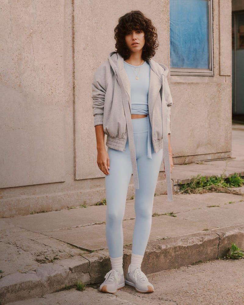 Norma Kamali Hooded Cotton-Blend Jersey Bomber Jacket