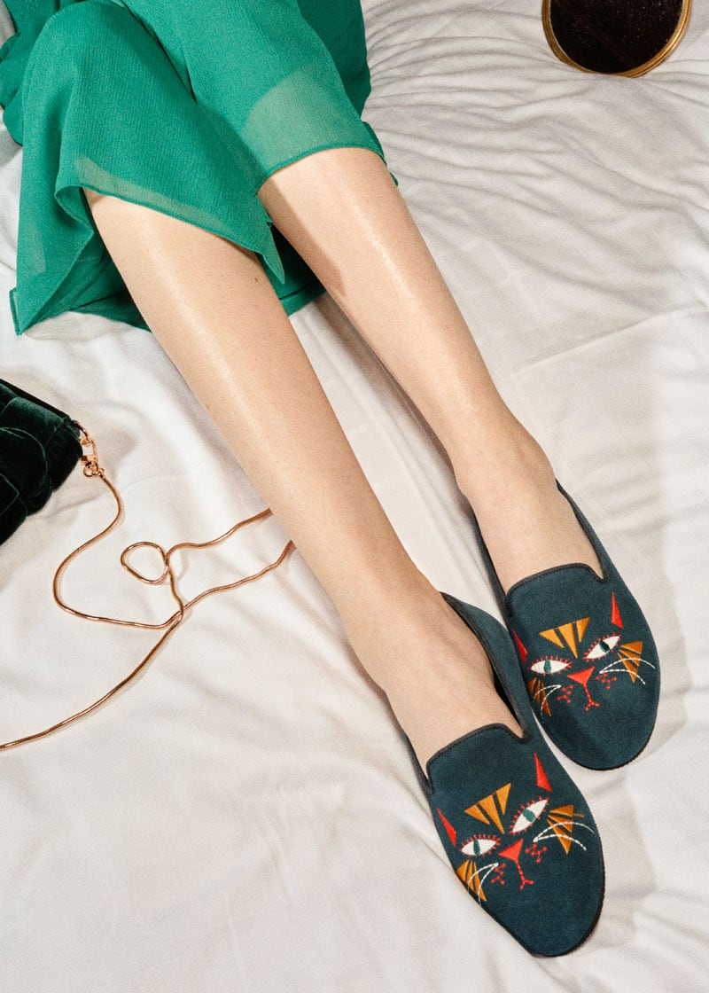 & Other Stories Cat Motif Loafer Slippers