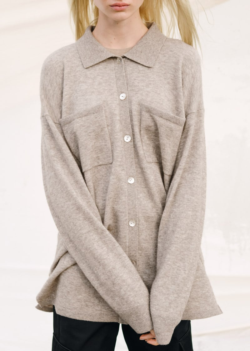 & Other Stories Oversized Wool Blend Shirt