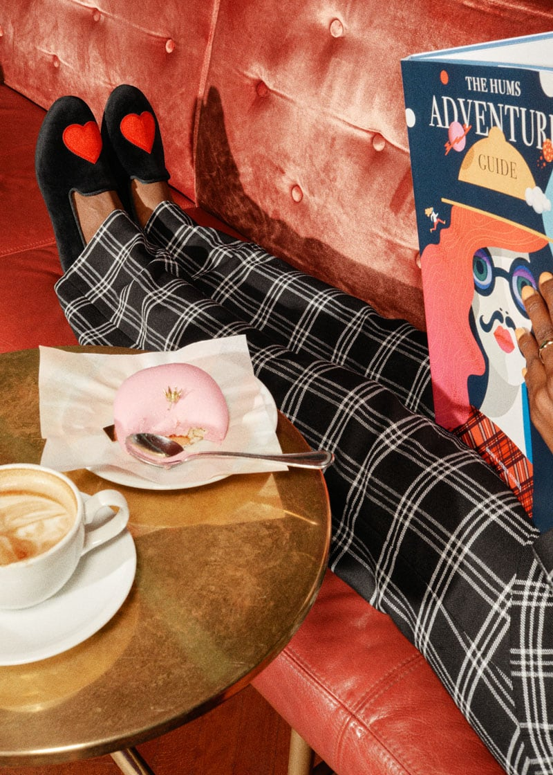 & Other Stories Red Heart Loafer Slippers
