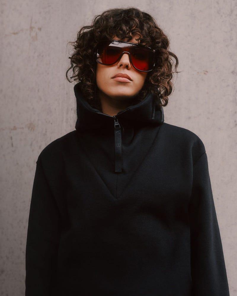 Reebok x Victoria Beckham Funnel-Neck Cotton-Jersey Sweatshirt
