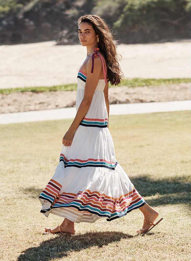 Zimmermann Lulu Ribbon Tiered Dress