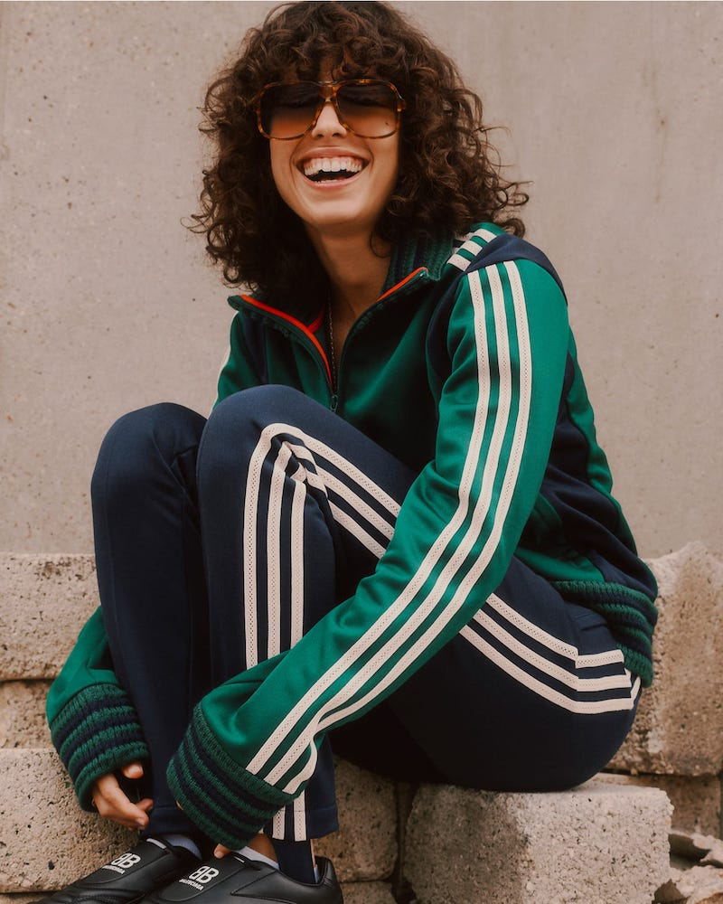 adidas x Wales Bonner Lovers Crochet-Ribbed Technical Track Top