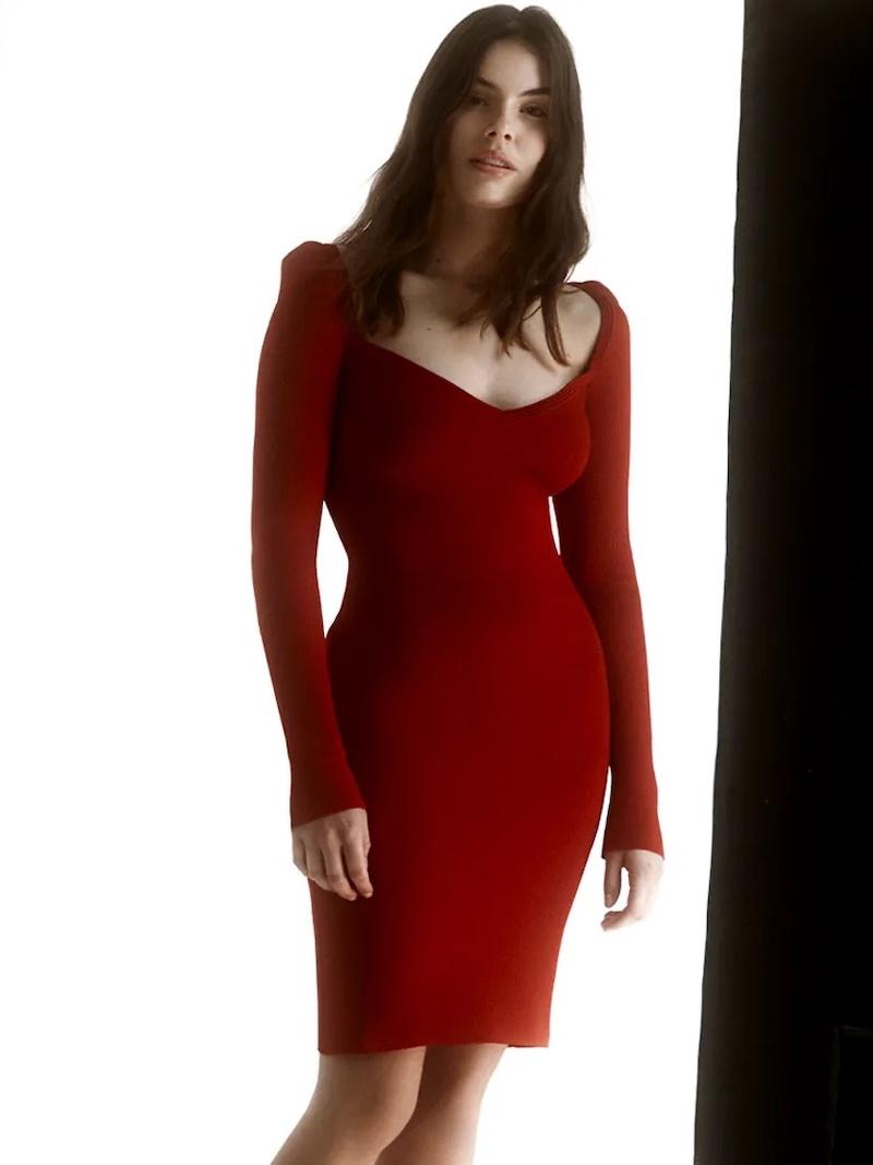 AZ Factory MyBody Ribbed Stretch-Knit Mini Dress