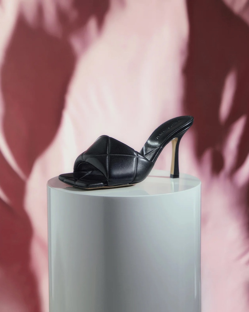 Bottega Veneta Padded Intrecciato Leather Mules