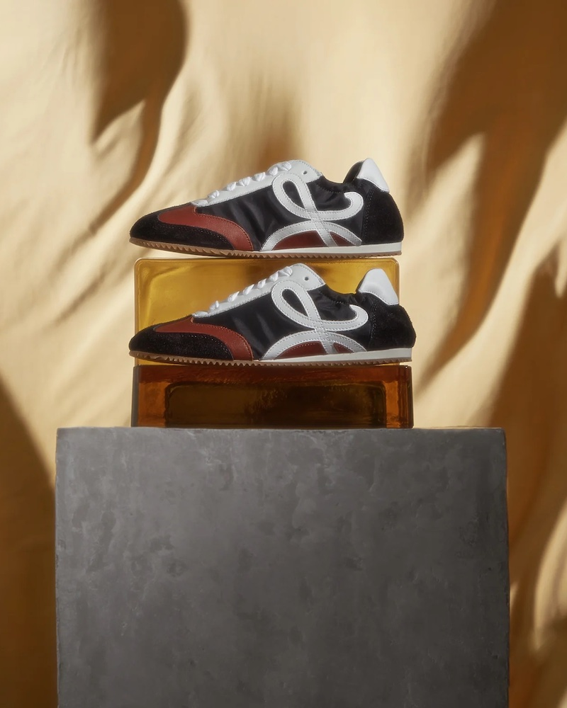 Loewe Ballet Runner Leather and Suede Trainers