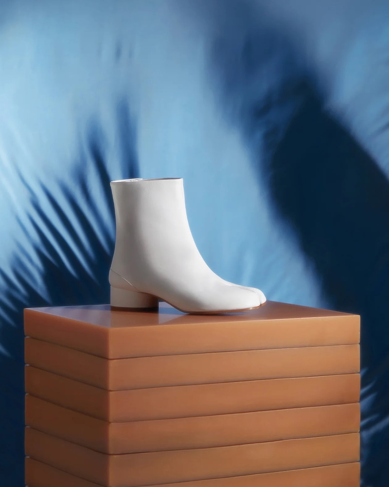 Maison Margiela Tabi Split-Toe Vintage-Leather Ankle Boots
