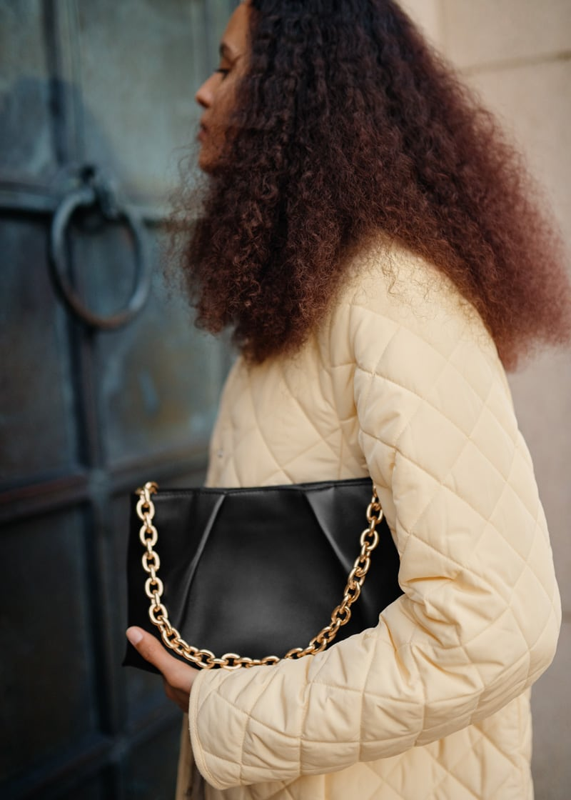 & Other Stories Folded Leather Chain Strap Bag