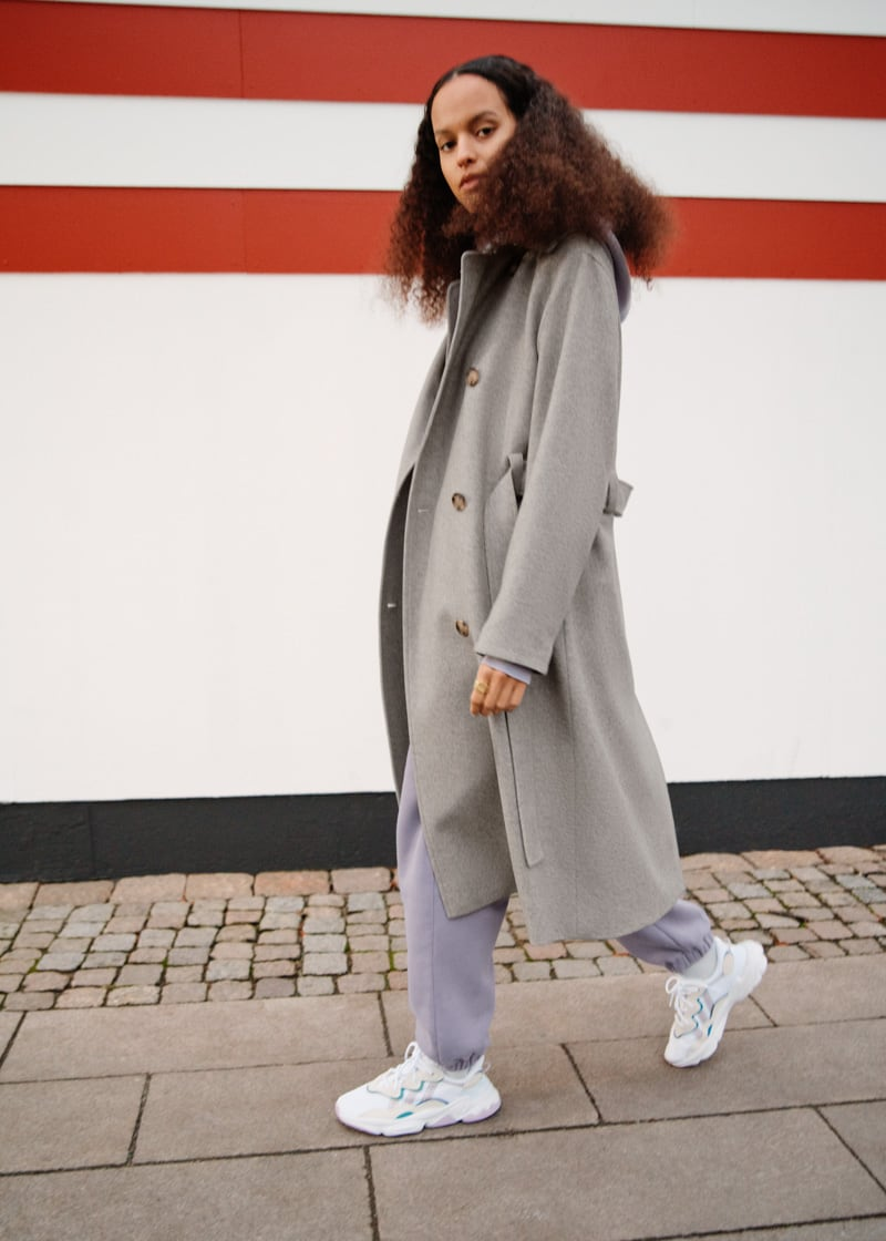 & Other Stories Relaxed Wool Blend Trench Coat
