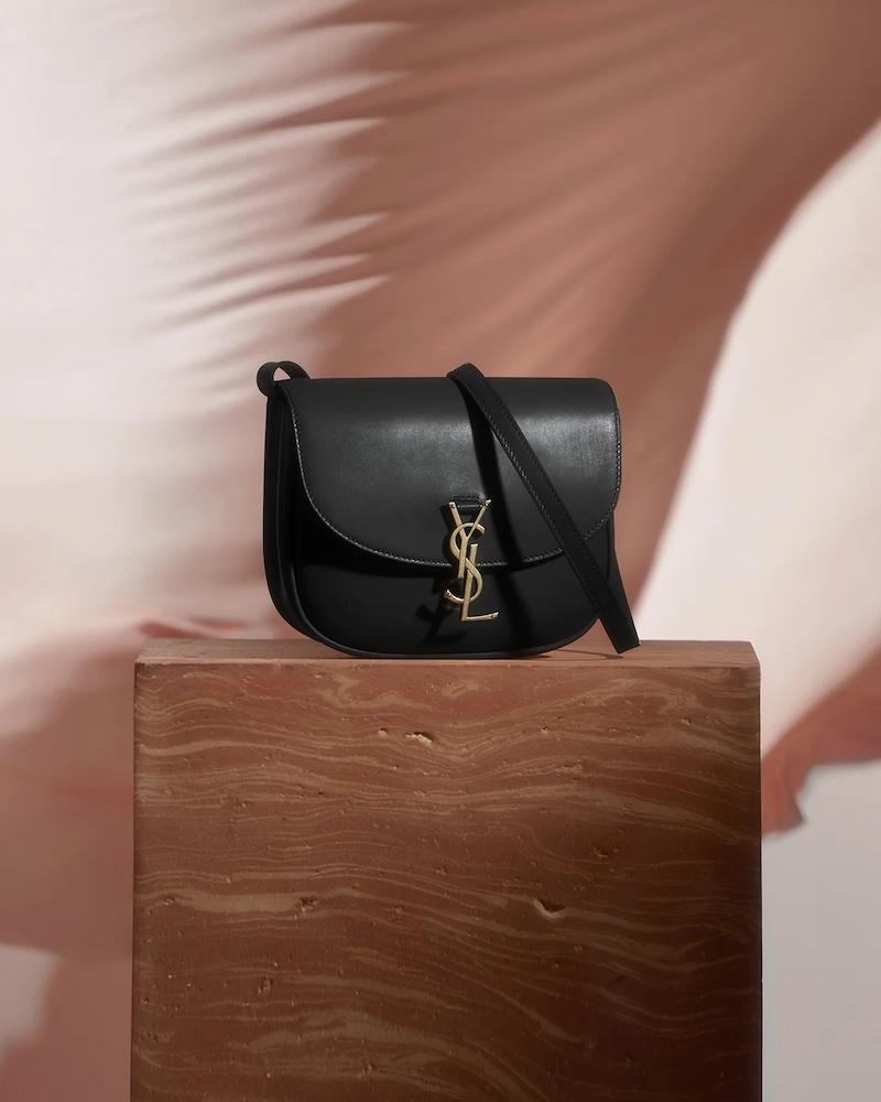 Saint Laurent Kaia Medium YSL-Plaque Leather Cross-Body Bag