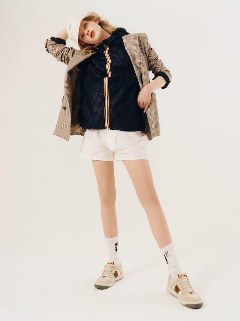 Fendi + K-Way Reversible Hooded Printed Shell and Ripstop Jacket