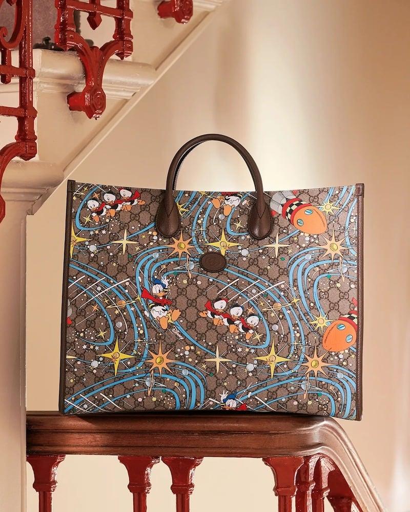 Gucci x Disney Donald Duck-Print Canvas Tote Bag