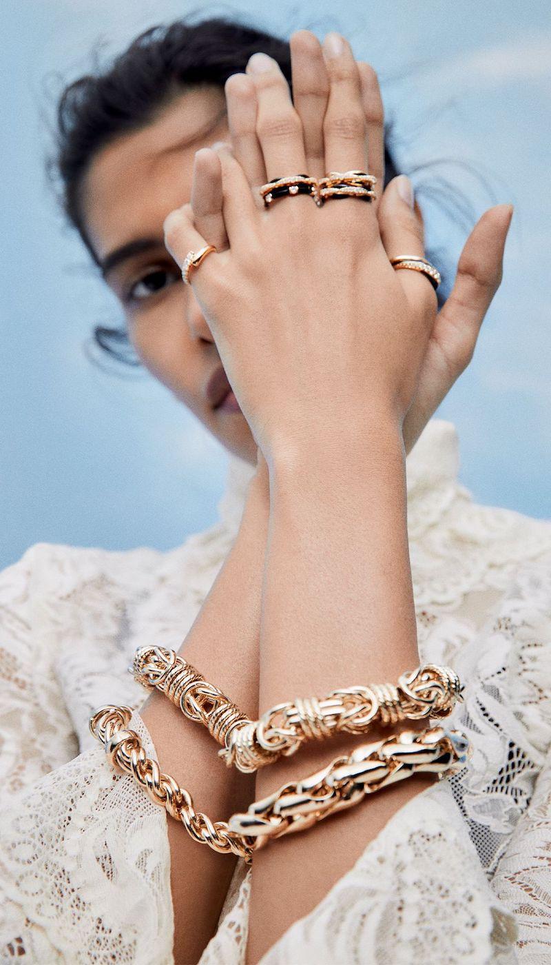 Lauren Rubinski Medium 14-Karat Gold Bracelet