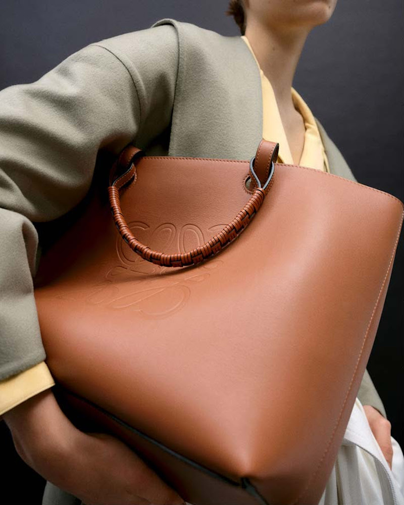 Loewe Anagram Small Leather Tote