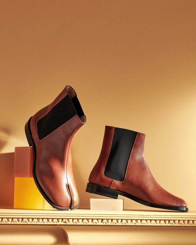 Maison Margiela Tabi Split-Toe Leather Chelsea Boots