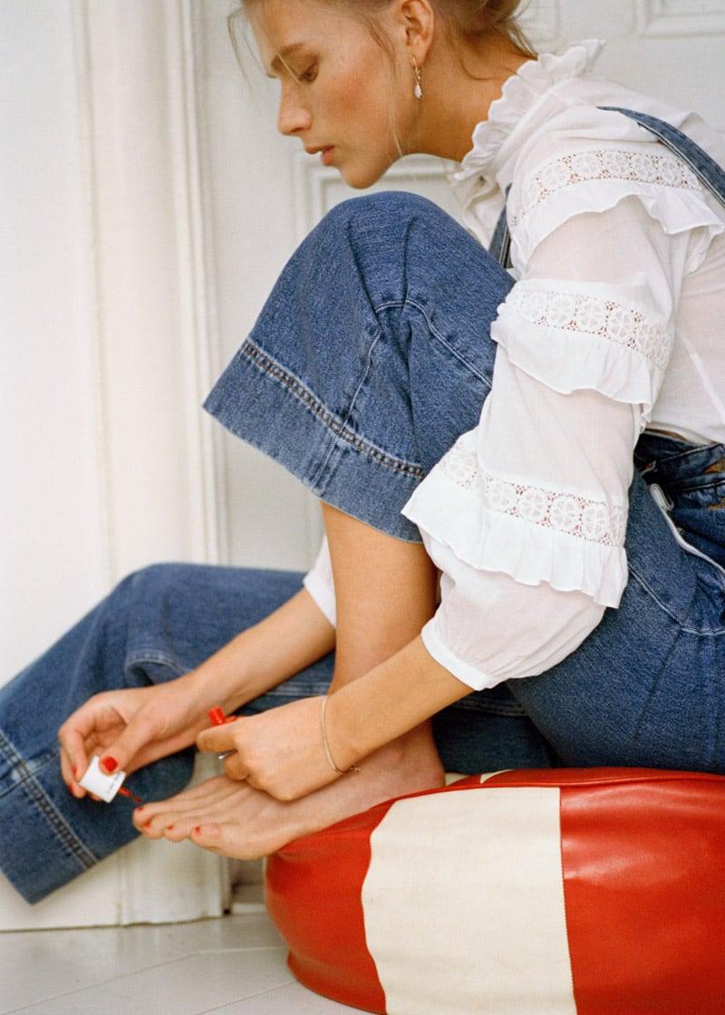 & Other Stories Relaxed Denim Dungarees