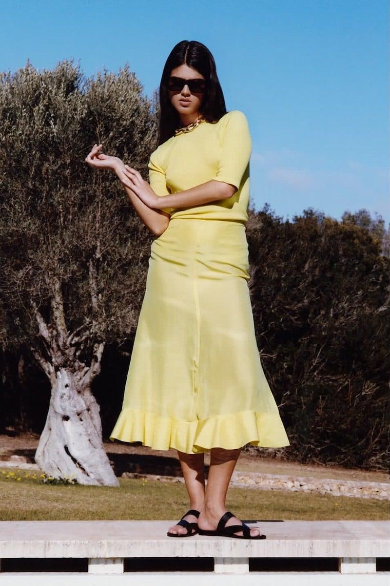 Rochas Habutai Flared Silk Midi Skirt