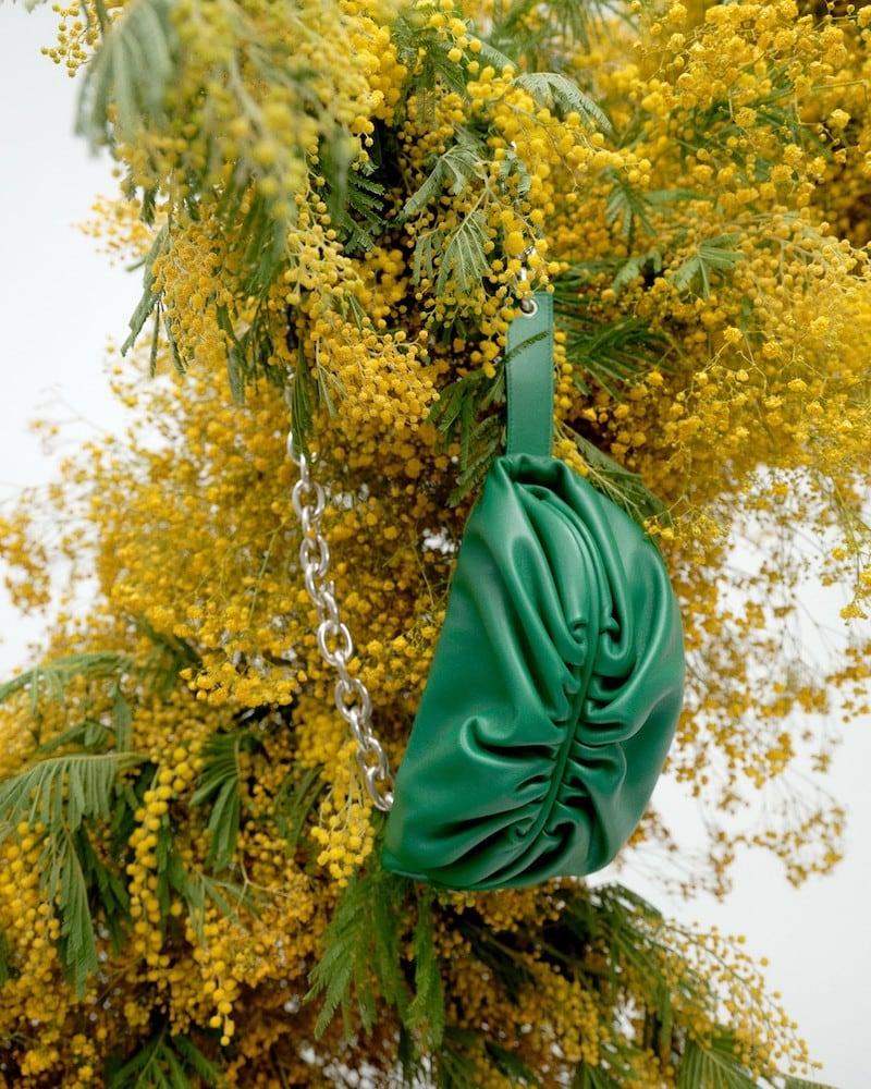 Bottega Veneta Chain Pouch Leather Crossbody Bag