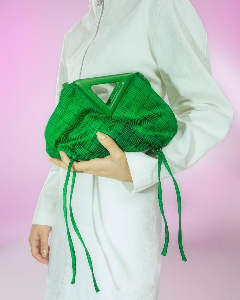 Bottega Veneta Point Small Jacquard Shoulder Bag