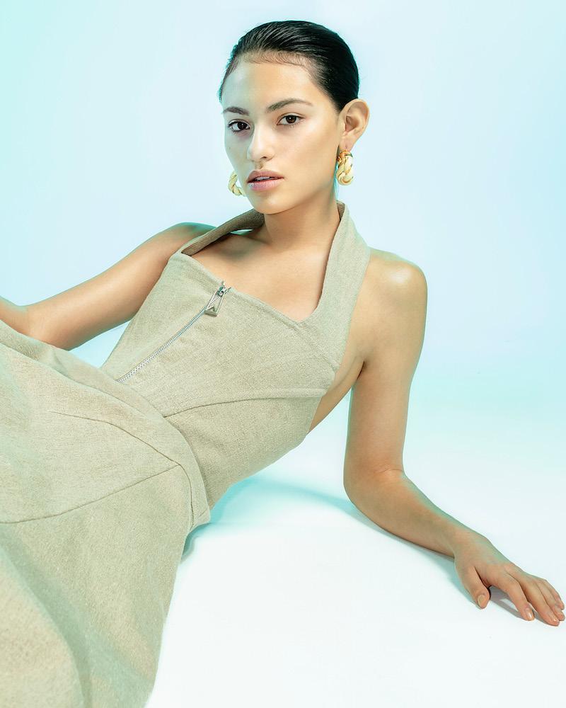 Bottega Veneta Stretch Linen Canvas Dress