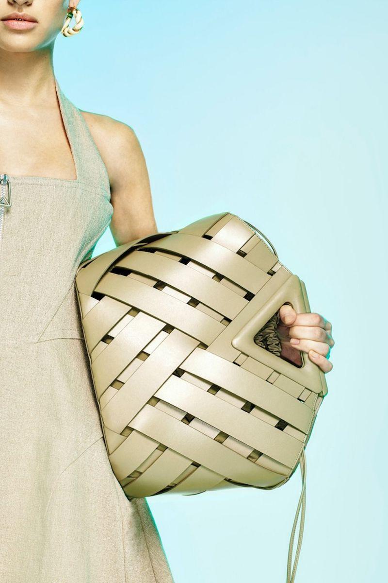 Bottega Veneta V Woven Drawstring Tote Bag