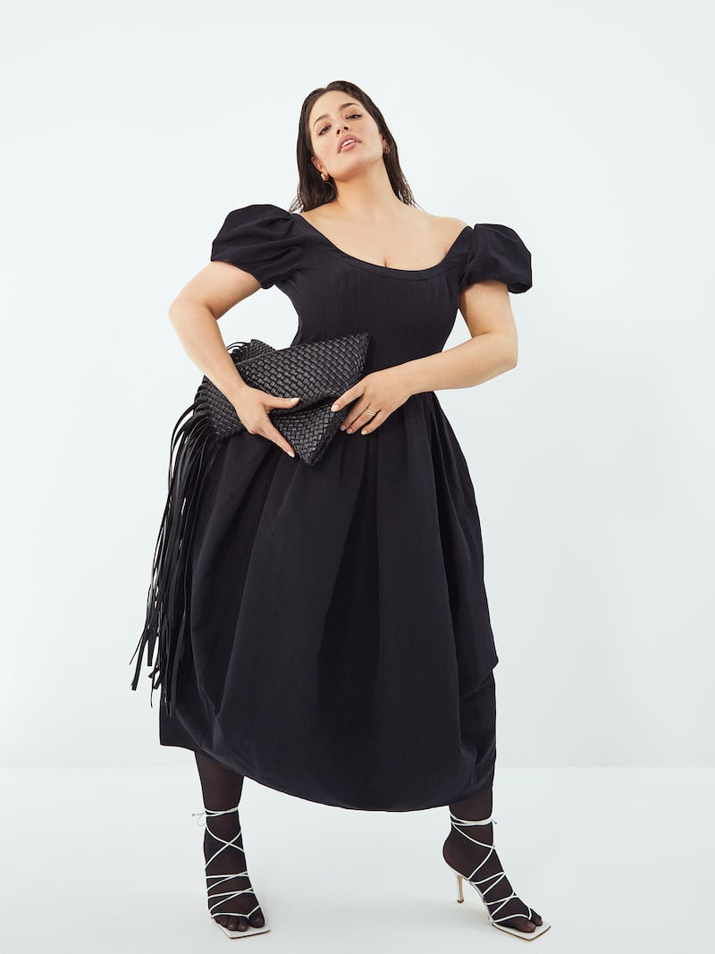 Brock Collection Salvina Pleated Cotton-Blend Poplin Midi Dress