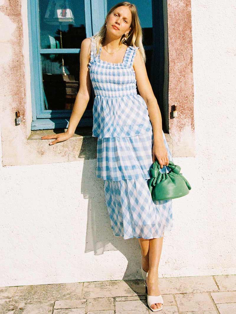 ENGLISH FACTORY Gingham Check Dress