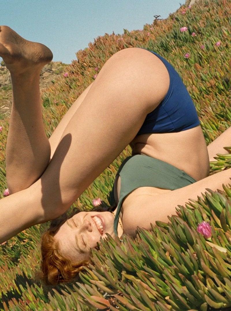 Everlane Square-Neck Bikini Top in Herb
